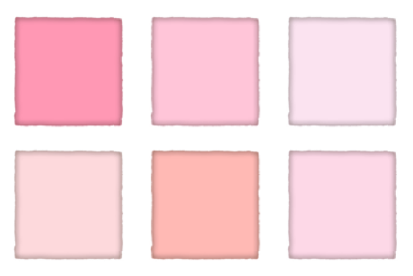 blush pinks