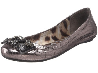 Sam Edelman caper ballet flat in Pewter, via Dressed in Orange