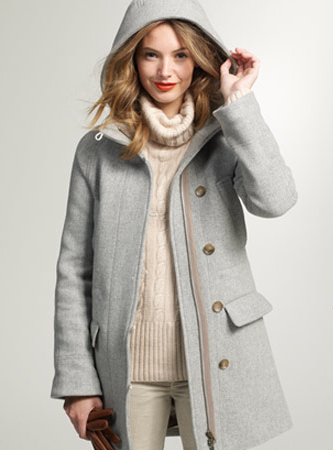 felted coat from J. Crew, via Dressed in Orange