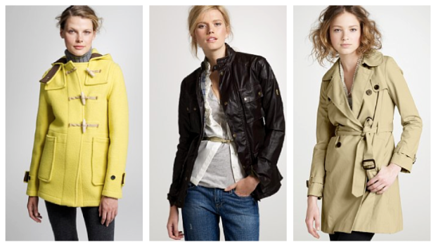 Great jackets from J.Crew, via Dressed in Orange