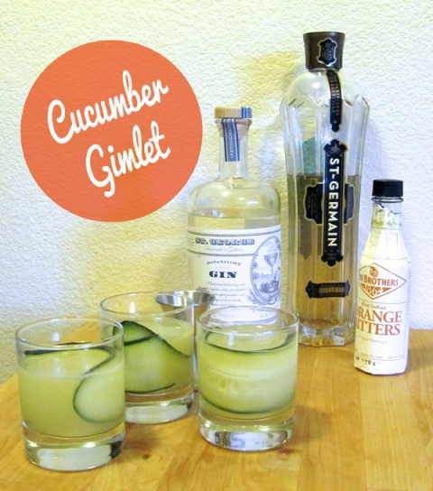 Cucumber Gimlet via @DressedInOrange