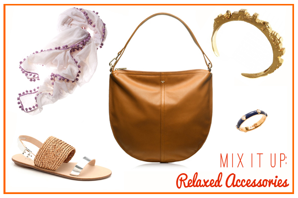 relaxed, bohemian, and beachy accessories for everyday, via Dressed in Orange