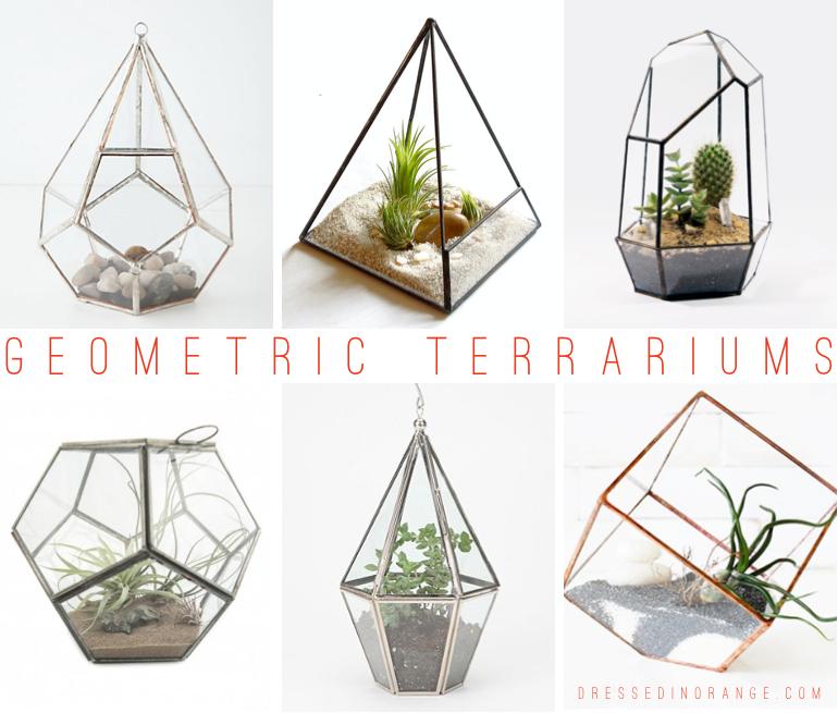 Geometric Terrariums Dressed In Orange