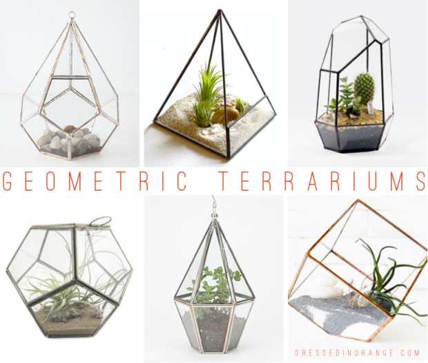 Geometric Terrariums via Dressed In Orange