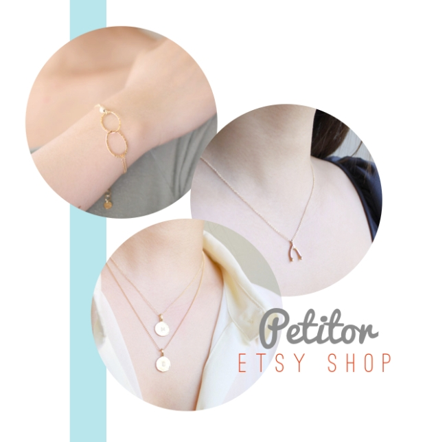 Dainty jewelry from Petitor's Etsy shop