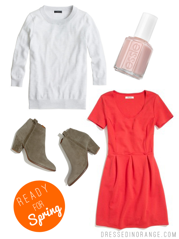 getting ready for Spring, via Dressed in Orange