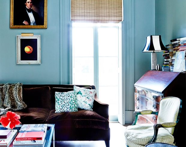Sara Ruffin Costello's home, featured in domainehome.com (via Dressed in Orange)