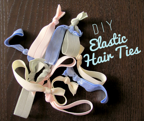 DIY Elastic Hair Ties via Dressed In Orange