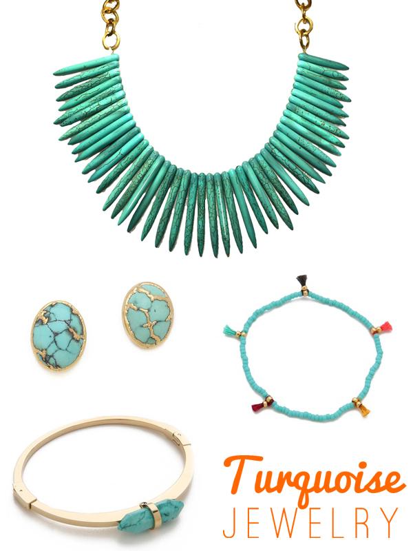 Turquoise Jewelry, via Dressed in Orange