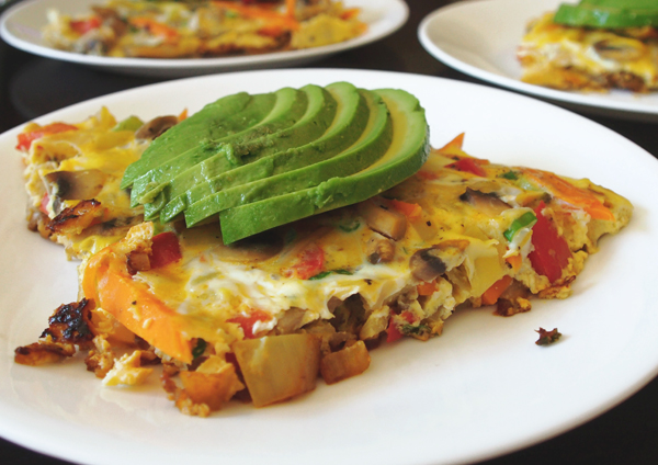 Veggie Frittata, via Dressed In Orange