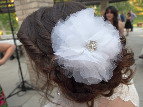 Floral Wedding Hairpiece via Dressed In Orange