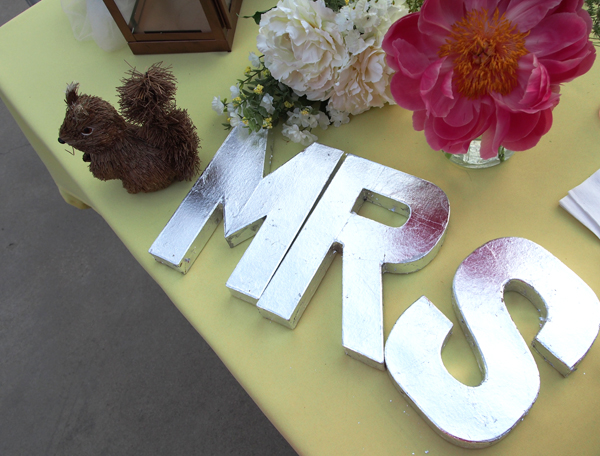 Wedding Table Sign via Dressed In Orange