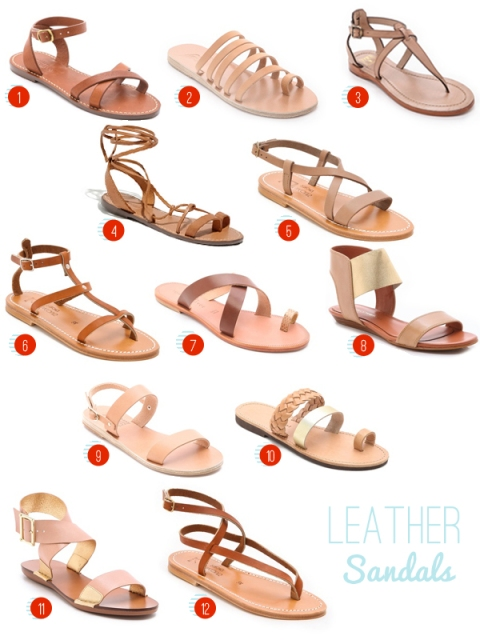 natural leather sandals, via Dressed in Orange