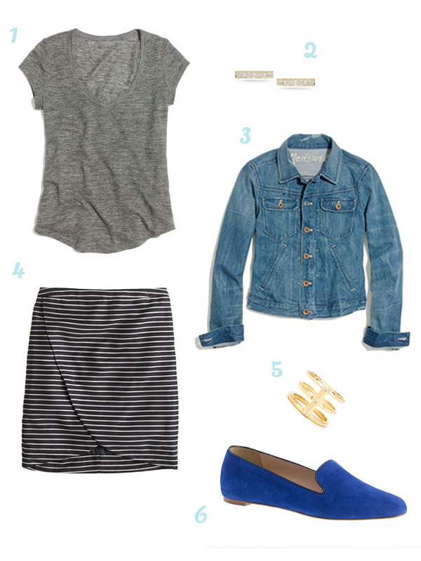 Wishlist: Stripes, denim, loafers, and diamond studs