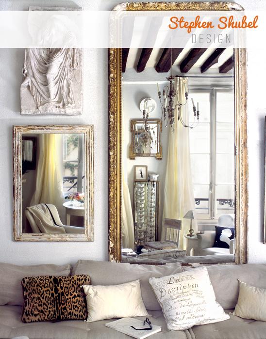 Paris apartment designed by Stephen Shubel, via Dressed in Orange