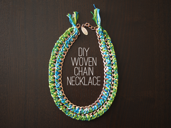 DIY Woven Chain Necklace | Dressed In Orange