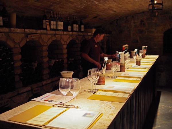 Tasting room; Castello di Amorosa