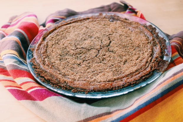 Pumpkin Pie with Gingersnap Crust, via Dressed in Orange