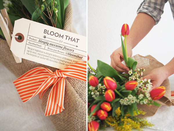 SF flower delivery from Bloom That   Dressed In Orange