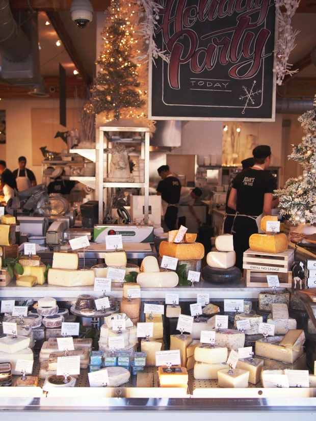 The cheese case at Joan's on Third, Los Angeles