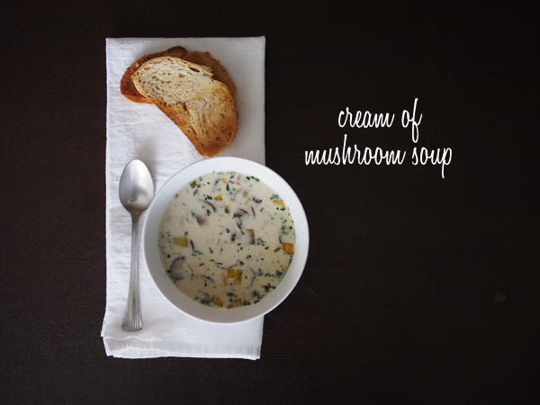Cream of Mushroom Soup | Dressed In Orange