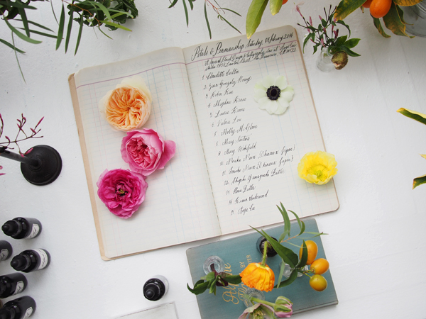 Petals & Penmanship | Dressed In Orange