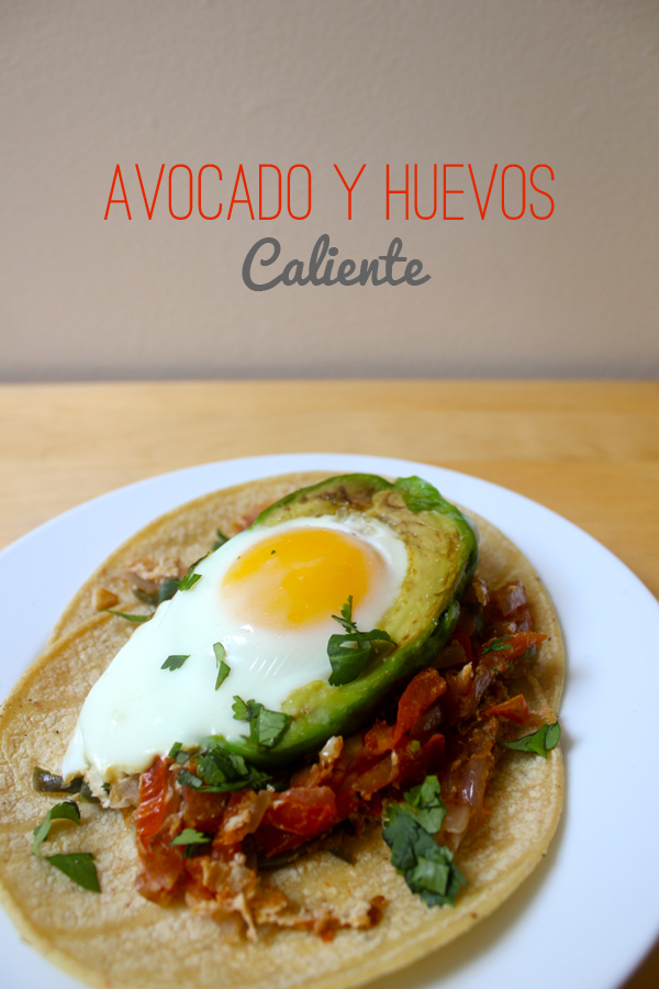 Avocado y Huevos Recipe (Baked Egg in an Avocado) | via Dressed in Orange