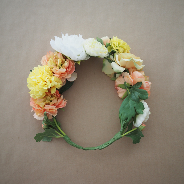DIY Flower Crown | Dressed In Orange