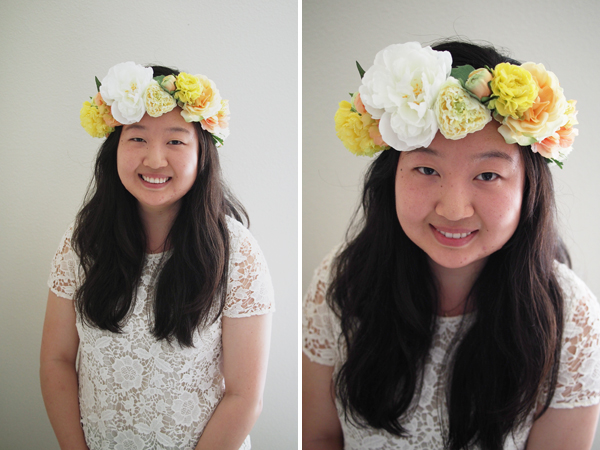 DIY Flower Crown   Dressed In Orange