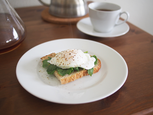 Poached Egg on Toast | Dressed In Orange
