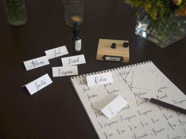Dinner Party Calligraphy